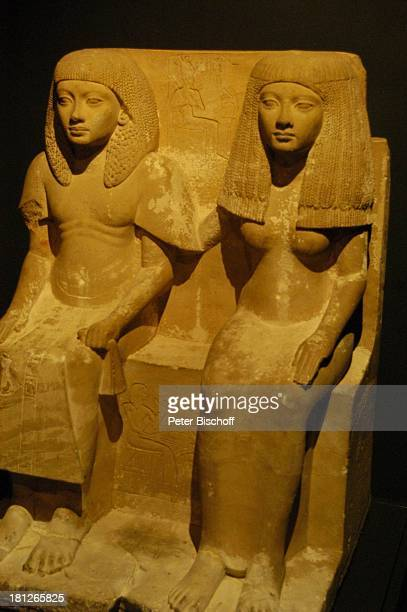 Ausgrabungen, Ägyptisches Museum, Alexandria, Ägypten, Afrika, , Prod.-Nr.: 188/2006, Statuen, Kopf, Mann, Frau, Nationalmuseum, Reise,
