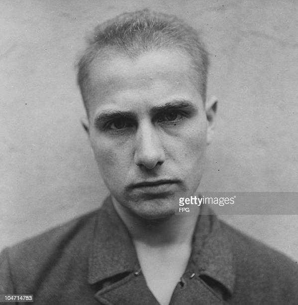 Auson Kinkartz, a guard at the Bergen-Belsen concentration camp, Germany, circa 1945. Charged with war crimes and crimes against humanity, Kinkartz...