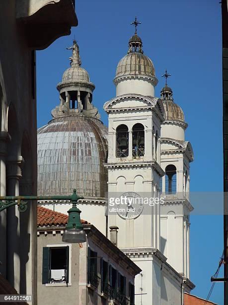 Aussenansicht der Kirche Santa Maria della Salute in Venedig aufgenommen am 18 Mai 2015