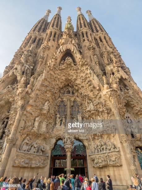 Aussenaufnahme der Sagrada Familia in Barcelona, Spanien