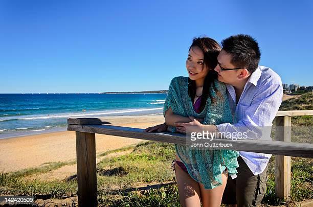Aussie Asian couple at the beach