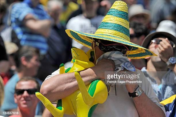 Aussie fan with kangaroo Australia v England 4th Test Melbourne December 201011