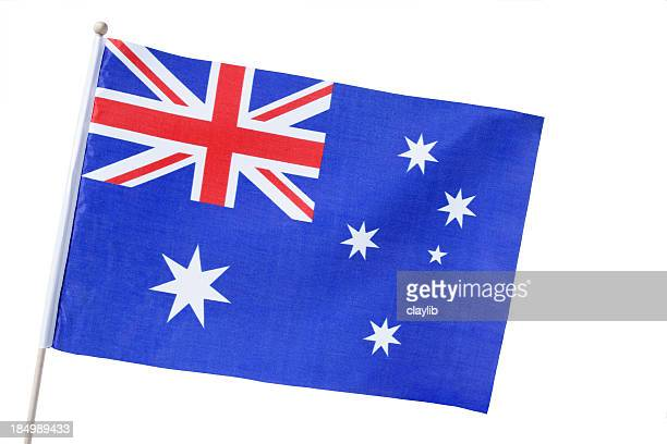aussie flag isolated - australian flag stock pictures, royalty-free photos & images