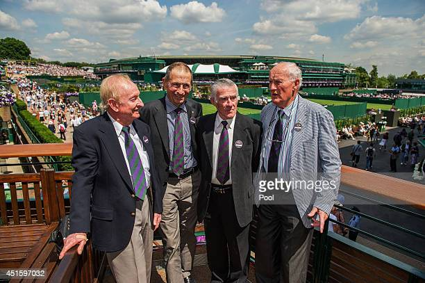 'Aussie Legends' press conference and photocall lr Former Wimbledon heroes from Australia Rod Laver Ashley Cooper Ken Rosewall and Neale Fraser on...