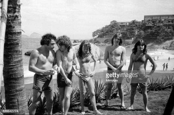 Aussie metal band AC/DC at the seaside in Rio