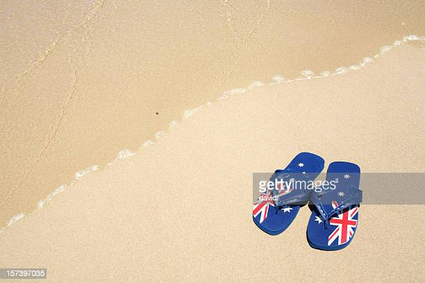 aussie thongs - australia day stock pictures, royalty-free photos & images