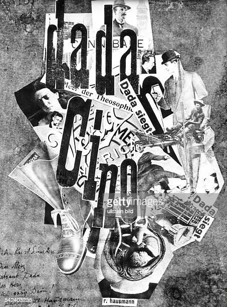 Ausstellung 'Tendenzen der zwanziger Jahre' Reproduktion eines Plakats von Raoul Hausmann 'DadaCino'