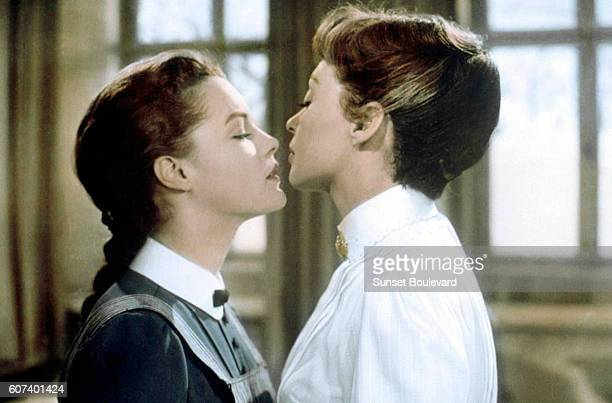 Ausstrian-born German actress Romy Schneider and German actress Lilli Palmer on the set of M?dchen in Uniform directed by Hungarian Geza von Radvanyi.