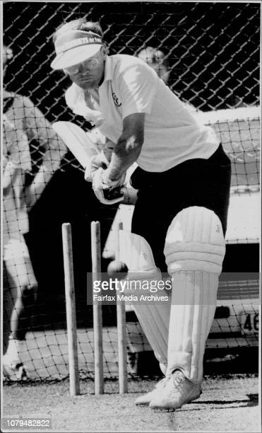 Aust Cricket team practice SCG Dirk Wellham back in the side January 8 1987
