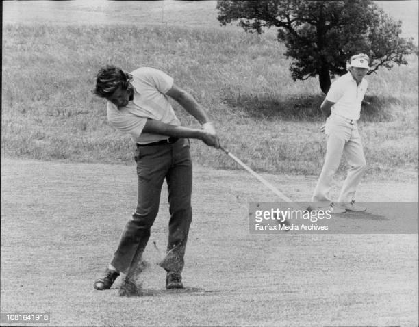Aust Open GolfRobert Taylor plays 2nd shot on the 1st hole November 01 1975