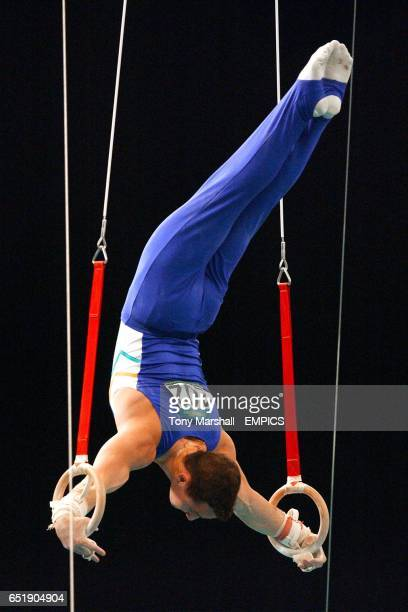 Austalia's Philippe Rizzi the silver medallist in action on the on the rings