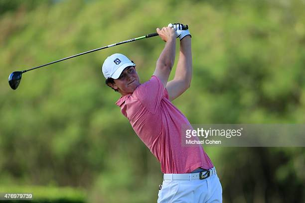 Austen Truslow hits a drive during the first round of the Puerto Rico Open presented by seepuertoricocom held at Trump International Golf Club on...