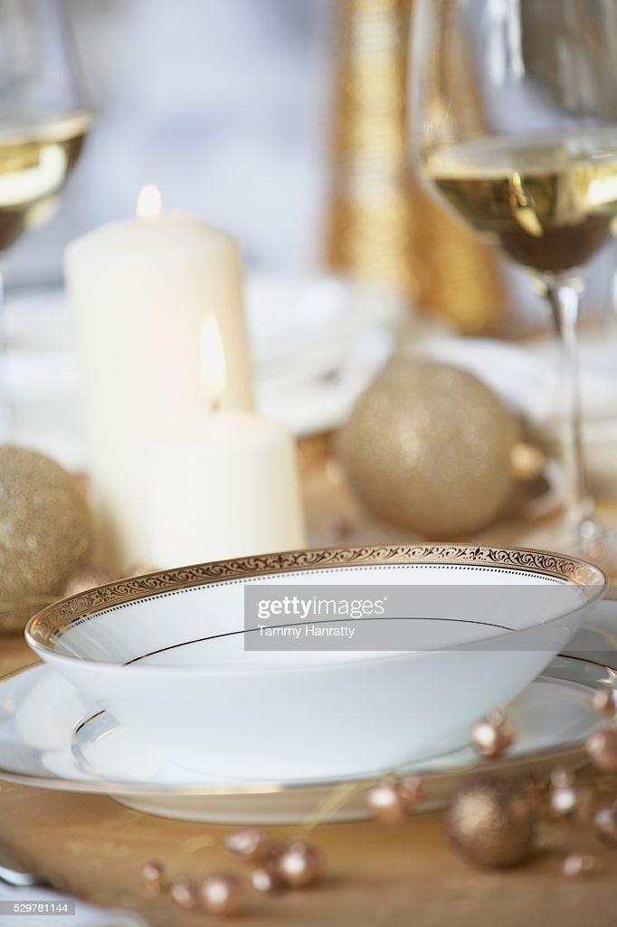 Austere Place Setting : Stock Photo