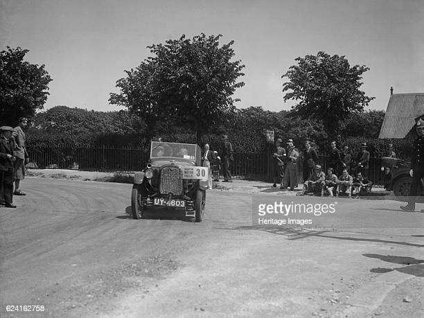 Austin 7 competing in the BHMC Brighton Motor Rally 1930 Artist Bill BrunellAustin 747 cc Vehicle Reg No UY4603 Event Entry No 30 Radiator surround...