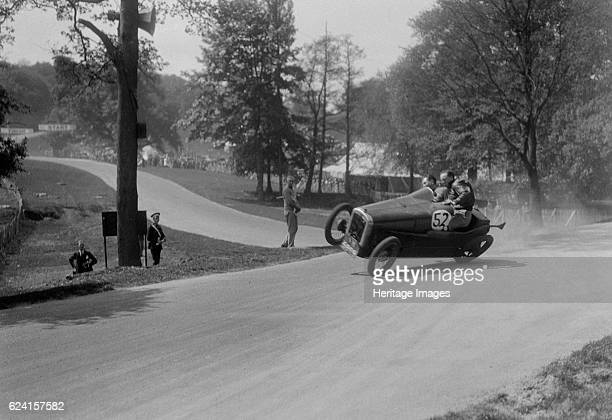 Austin 7 of B Sparrow about to crash Donington Park Race Meeting Leicestershire 1933 Artist Bill BrunellAustin 747 cc Event Entry No 52 Driver...