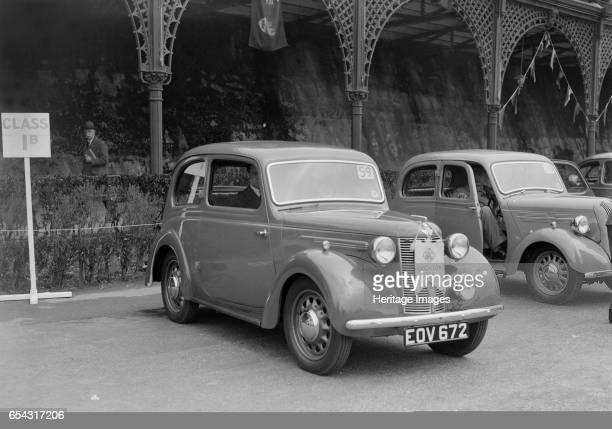 Austin 8 of CD Buckley at the RAC Rally Madeira Drive Brighton 1939 Artist Bill Brunell Austin 8 900 cc Vehicle Reg No EOV672 Event Entry No 59...