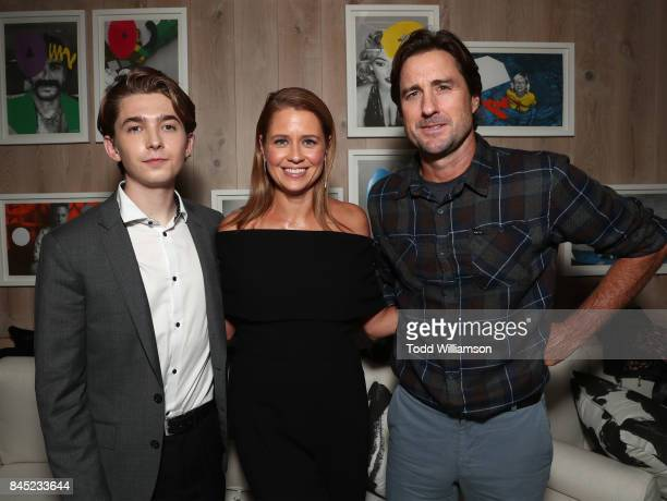 Austin Abrams Jenna Fischer and Luke Wilson attend the Amazon Studio's TIFF premiere of Brad's Status After Party Hosted By Johnny Walker at Bischa...