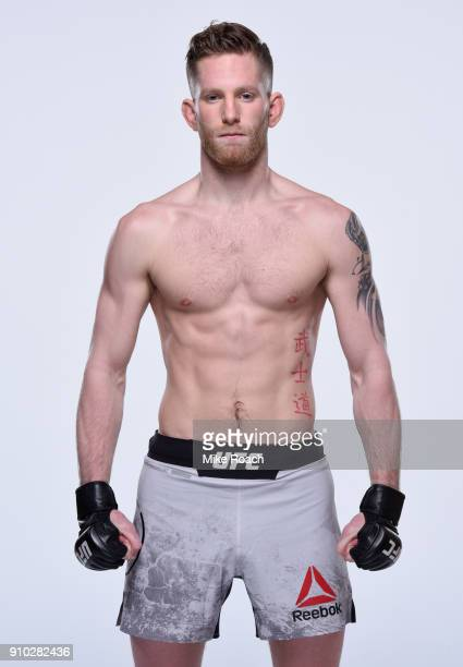 Austin Arnett poses for a portrait during a UFC photo session on January 24 2018 in Charlotte North Carolina