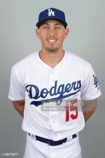Austin Barnes of the Los Angeles Dodgers poses during Photo Day on Thursday February 20 2019 at Camelback Ranch in Glendale Arizona