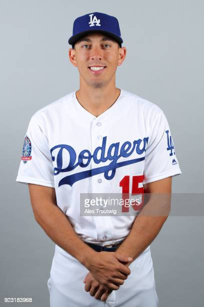 Austin Barnes of the Los Angeles Dodgers poses during Photo Day on Thursday February 22 2018 at Camelback Ranch in Glendale Arizona