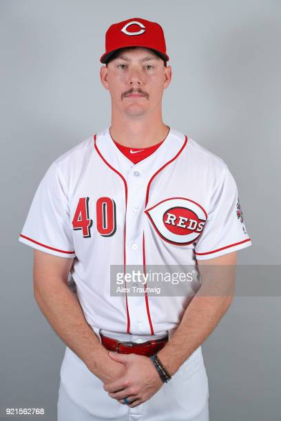 Austin Brice of the Cincinnati Reds poses during Photo Day on Tuesday February 20 2018 at Goodyear Ballpark in Goodyear Arizona