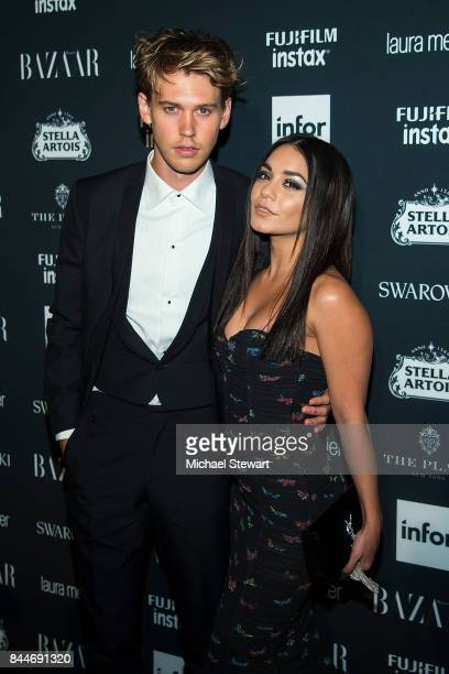 Austin Bulter and Vanessa Hudgens attend 2017 Harper's Bazaar Icons at The Plaza Hotel on September 8 2017 in New York City