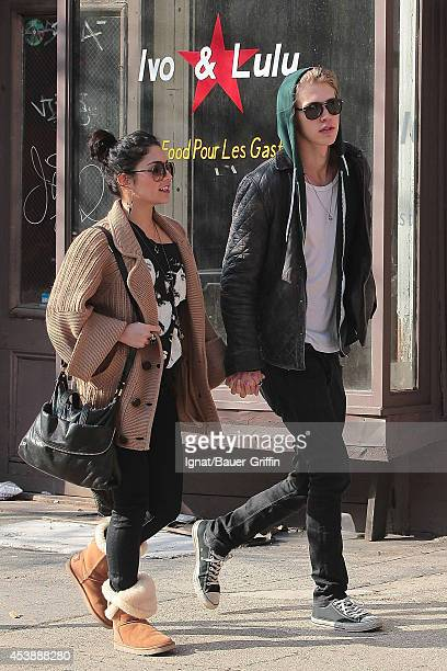 Austin Butler and his girlfriend Vanessa Hudgens are seen on March 17 2012 in New York City