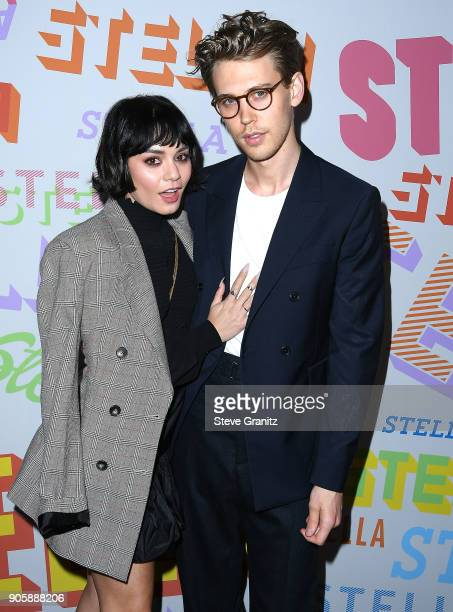 Austin Butler Vanessa Hudgens arrives at the Stella McCartney's Autumn 2018 Collection Launch on January 16 2018 in Los Angeles California