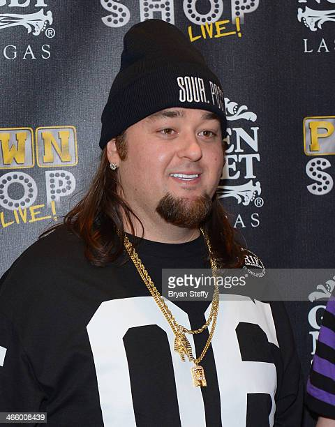 Austin 'Chumlee' Russell arrives at the opening of 'Pawn Shop Live' a parody of History's 'Pawn Stars' television series at the Golden Nugget Hotel...