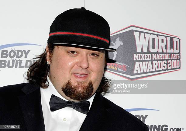 """Austin """"Chumlee"""" Russell from History's """"Pawn Stars"""" television series arrives at the third annual Fighters Only World Mixed Martial Arts Awards 2010..."""