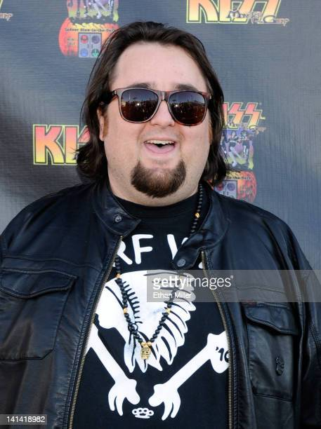 """Austin """"Chumlee"""" Russell from History's """"Pawn Stars"""" television series arrives at the grand opening of the KISS by Monster Mini Golf amusement..."""