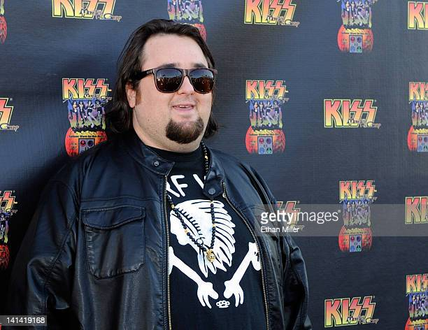 Austin Chumlee Russell from History's Pawn Stars television series arrives at the grand opening of the KISS by Monster Mini Golf amusement attraction...