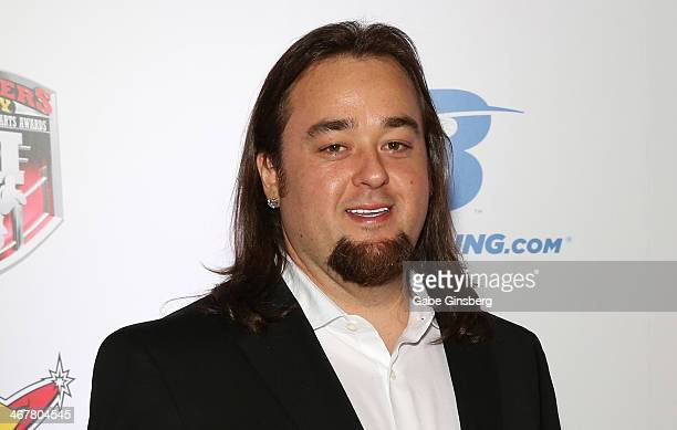 Austin Chumlee Russell from History's Pawn Stars television series arrives at the sixth annual Fighters Only World Mixed Martial Arts Awards at The...
