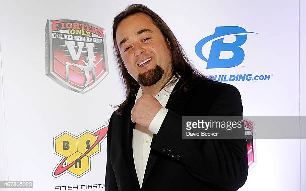 """Austin """"Chumlee"""" Russell from History's 'Pawn Stars' television series arrives at the sixth annual Fighters Only World Mixed Martial Arts Awards at..."""