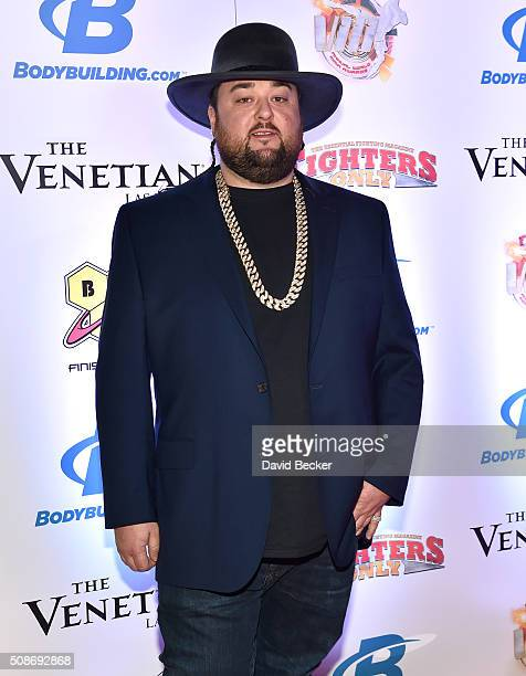 """Austin """"Chumlee"""" Russell from History's """"Pawn Stars"""" television series arrives at the eighth annual Fighters Only World Mixed Martial Arts Awards at..."""