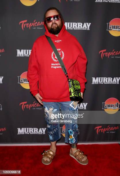 Austin Chumlee Russell from History's Pawn Stars television series attends the opening of Murray the Magician at the Laugh Factory inside the...