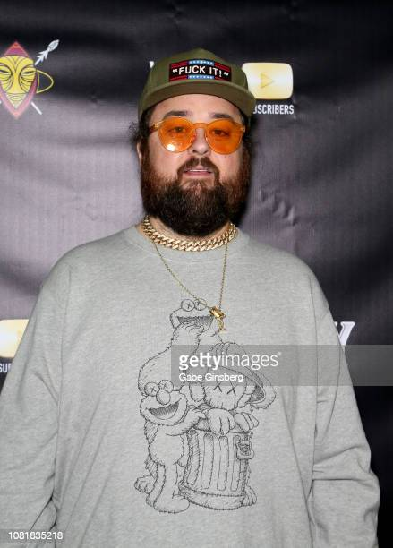 """Austin """"Chumlee"""" Russell from History's """"Pawn Stars"""" television series attends Murray SawChuck's celebration of 1 Million YouTube subscribers at The..."""
