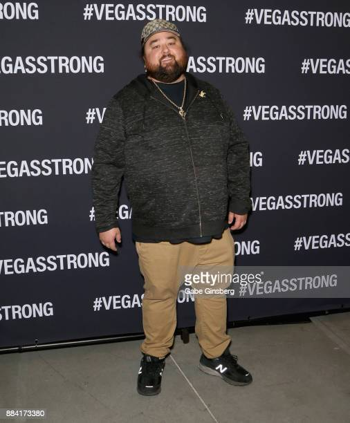 Austin Chumlee Russell from History's Pawn Stars television series attends the Vegas Strong Benefit Concert at TMobile Arena to support victims of...