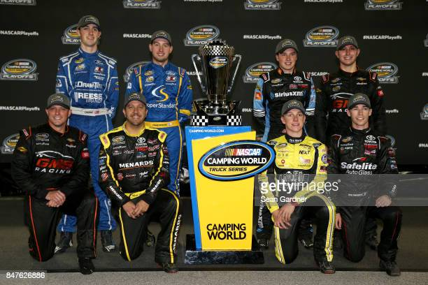 Austin Cindric driver of the DrawTite/Reese Brands Ford Chase Briscoe driver of the Cooper Standard Ford Christopher Bell driver of the SiriusXM...