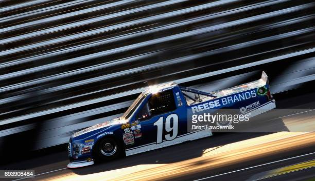 Austin Cindric driver of the DrawTite/Reese Brands Ford practices for the NASCAR Camping World Truck Series winstaronlinegamingcom 400 at Texas Motor...