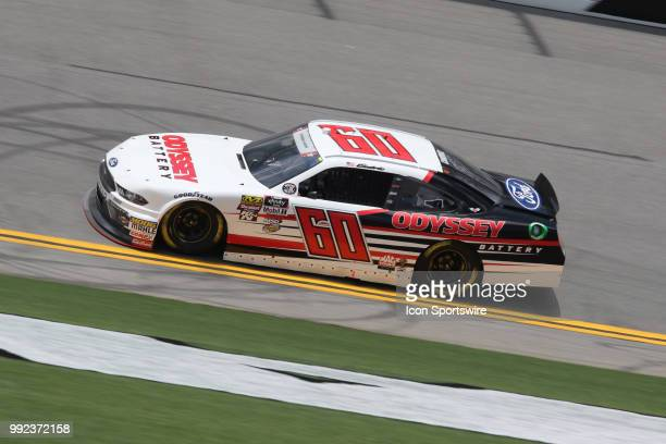Austin Cindric driver of the Odyssey Battery Ford during practice for the CocaCola FireCracker 250 race on July 5 at Daytona International Speedway...