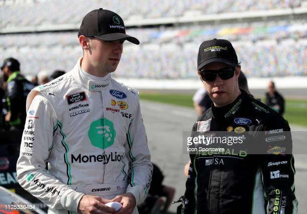 Austin Cindric Team Penske Ford Mustang MoneyLion Brad Keselowski Penske Racing Ford Mustang Fitzgerald during qualifying for the NASCAR Driving...