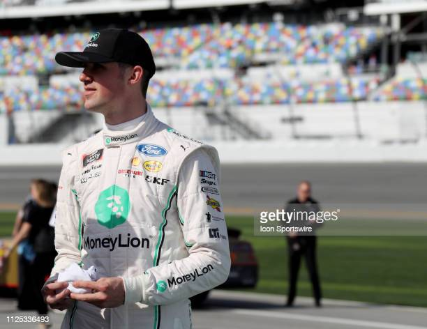 Austin Cindric Team Penske Ford Mustang MoneyLion during qualifying for the NASCAR Driving Expierence 300 on February 16 2019 at Daytona...