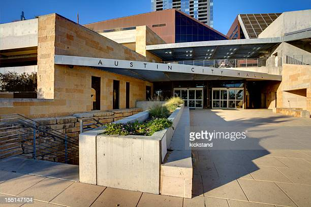 austin city hall (tx) - town hall stock pictures, royalty-free photos & images
