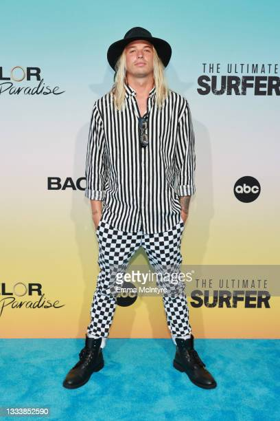 """Austin Clouse attends ABC's """"Bachelor In Paradise"""" And """"The Ultimate Surfer"""" Premiere at Fairmont Miramar - Hotel & Bungalows on August 12, 2021 in..."""