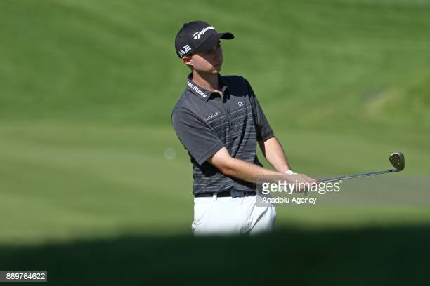 Austin Connelly competes during the Turkish Airlines Open 2017 Golf Tournament in Antalya Turkey on November 03 2017