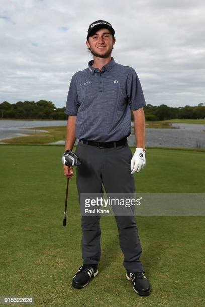 Austin Connelly of Canada poses during the proam ahead of the World Super 6 at Lake Karrinyup Country Club on February 7 2018 in Perth Australia