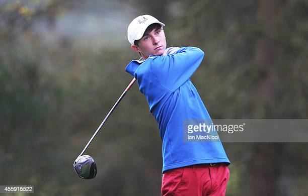 Austin Connelly of USA in action during the first round of the 2014 Junior Ryder Cup at Blairgowrie Golf Club on September 22 2014 in Perth Scotland