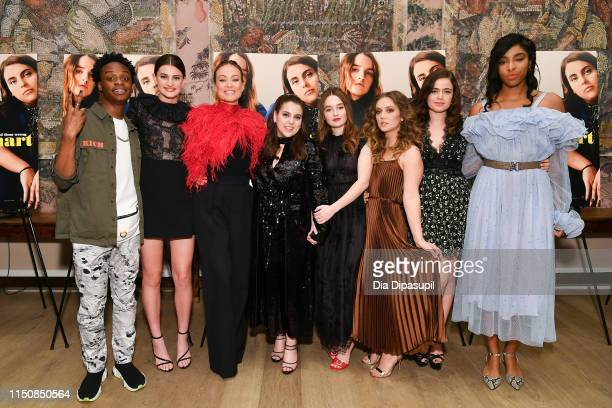 Austin Crute Diana Silvers Olivia Wilde Beanie Feldstein Kaitlyn Dever Billie Lourd Molly Gordon and Jessica Williams attend the Booksmart New York...