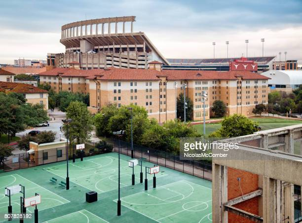 Austin Darrell K Royal Texas Memorial Stadium with University residences